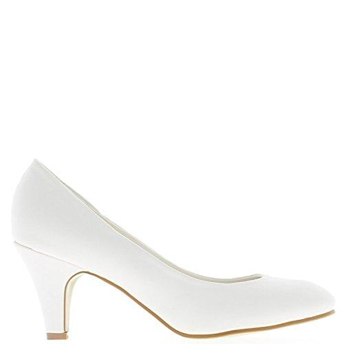 e6315ddbcfade8 ChaussMoi Weiße Schuhe 7cm Absatz - 41  Amazon.de  Schuhe   Handtaschen
