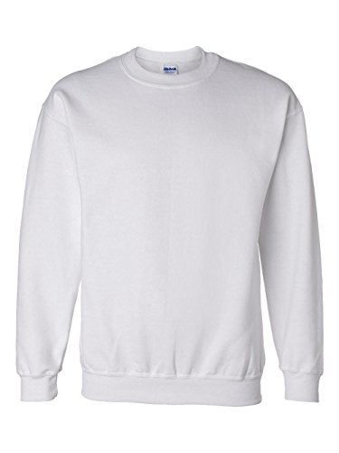 Wht Neck - Gildan Dryblend Adult Crew Neck Sweatshirt, Wht, Large