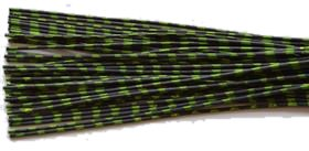Archery ZEBRA WHISKER RUBBER BOWSTRING BOW STRING SILENCERS 4 Pc. Pack - NEW HOT COLORS ! (Black-Chartreuse)