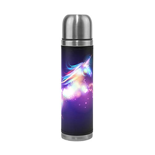 - Wamika Magic Unicorn Stars Galaxy Vacuum Insulated Travel Water Bottle, Rainbow Cartoon Horse Double Wall Stainless Steel Sports Coffee Mug Cup Christmas Birthday Gifts for Mom Dad Kids Students