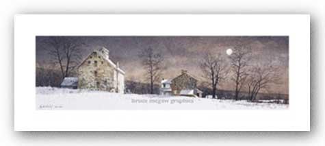 - Mill Moon Art Print Art Poster Print by Ray Hendershot, 28x11