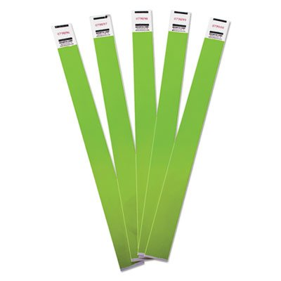 Crowd Management Wristbands, Sequentially Numbered, 10 x 3/4, Green, 500/Pack