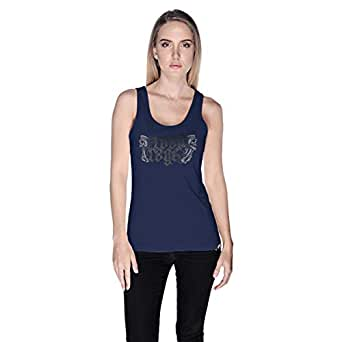 Creo Road Rage Tank Top For Women - Xl, Navy Blue