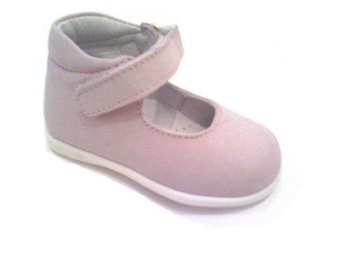 c78a6404f4c71 Scarpe bambina primi passi ballerine Mary Jane n 18 rosa pastello apertura  a strappo artigianali vendita