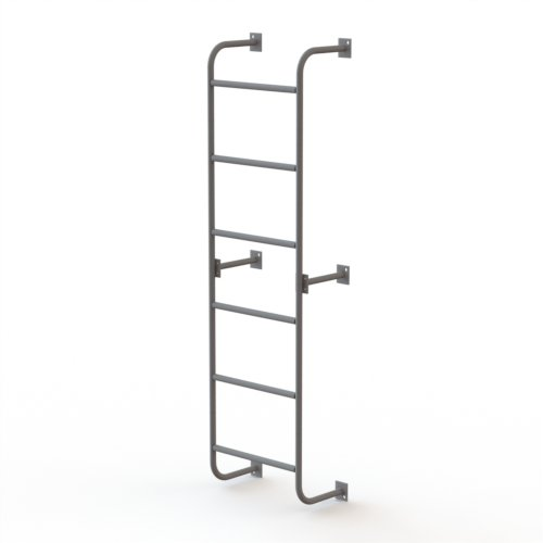 Tri-Arc WLS2SS 6-Step Steel Industrial & Warehouse Side-Step Dock Ladder