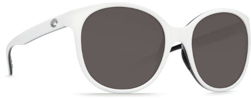 Costa Del Mar Goby Women's Polarized Sunglasses, White/Black/Gray 580P, - Sunglasses High Manufacturer End