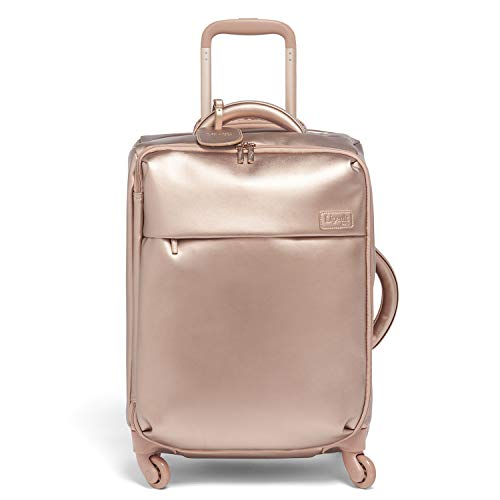 Lipault – Miss Plume Spinner 55/20 Luggage – Carry-On Rolling Bag for Women – Pink Gold