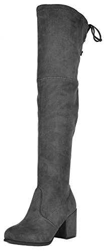 Image of TOETOS Women's Prade-High Over The Knee Chunky Heel Boots