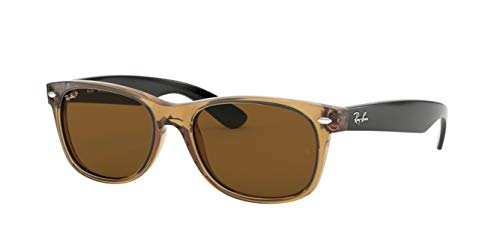 Ray-Ban RB2132 (945/57) Honey/Crystal Brown Polarized 55mm Sunglasses Bundle with original case, cloth, booklet and accessories (6 items)