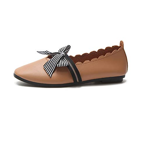 Slip colore Knot Shoes Comfort On Dimensione Ballet Marrone Casual Flats Marrone Fuxitoggo Eu 39 XqF8xwX