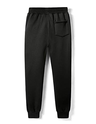 Gihuo Men's Casual Fleece Lined Winter Pant Athletic Jogger Sweat Pants