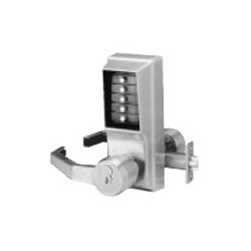 Kaba LL1021M-26D-41 Cylindrical Push Button Lock Lever Mic Ko Lh Us26D, Satin Chrome by Simplex  B00GFITMH8