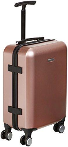 AmazonBasics Metallic Hardshell Carry-On Spinner Luggage Suitcase with TSA Lock - 20 Inch, Rose Gold
