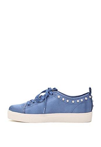 Blau Damen Rag mit Schnürschuhe Nieten London CZ4TqwxC