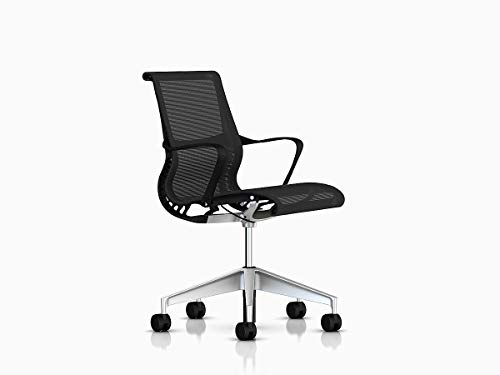 Herman Miller CQ51MAG1L7HCCNNN4W31 Setu Chair, Frame/Graphite Lyris