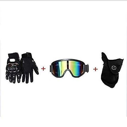 Fullface Cruz Rosa Negro Casco con Guantes Gafas Protectoras M/áscara Off Road MTB Downhill Casco para Bicicleta de Monta/ña Ni/ño Ni/ña Karting Casco Deportivo SICOFD Motocr/ós El Casco Adulto