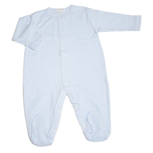 Kissy Kissy Baby Dots Footie-Blue with White Dots-Newborn