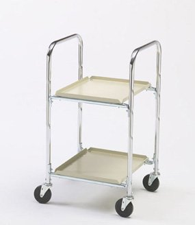 Charnstrom Two Shelf Compact Office Cart with 4-Inch Casters (M246)