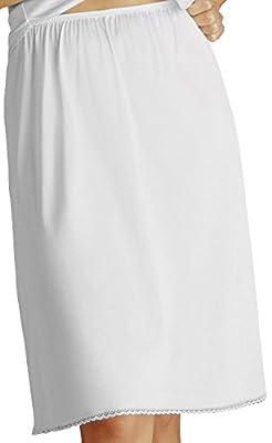 11811 3x 28 White Vanity Fair Non-cling Nylon Half Slip
