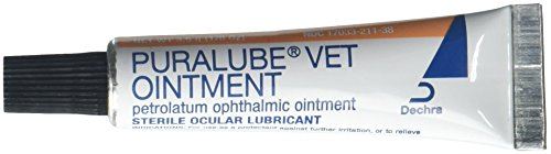 Puralube Vet Ointment - 1/8 oz Tube - Sterile Ocular Lubricant by Pharmaderm