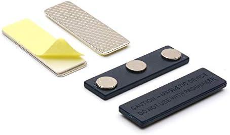 Lanyards Selbstklebende magnetische Namensschilder von LanyardsTomorrow Starke Verschlüsse Metallaufsätze – Ideal zum direkten Aufkleben auf Visitenkarten, Mehrzweck-Gebrauch.