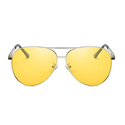 Aoligei Fotosensible gafas sol de hombres uso Shing polarizado y G día doble de color UV noche PraPwdSq