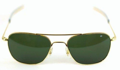 american aviator sunglasses  AO American Optical Original Pilot Sunglasses Gold 52mm Green Lens ...