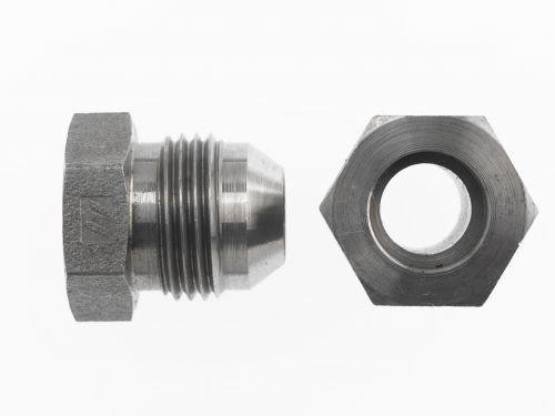 Plug /& Nut 3//8 in JIC 37/° Flare, 133 Units SAE Brennan 9//16 18 Thread
