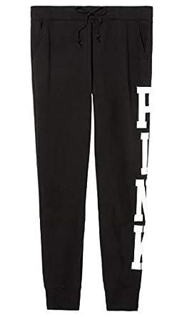 da4c518e35e4c Amazon.com: Pink Victoria's Secret Classic Sweatpants Black ...
