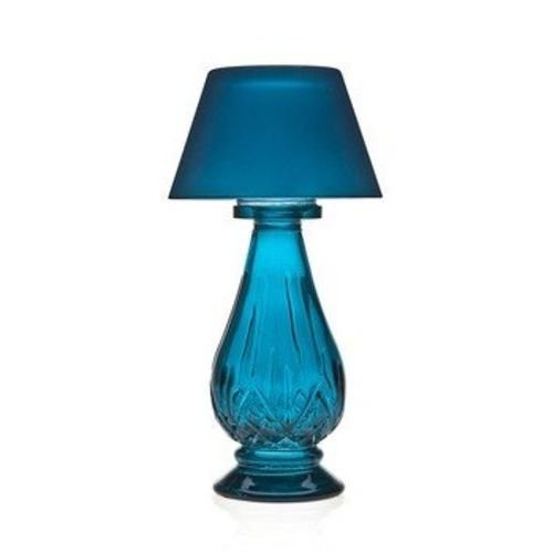 Studio Home Blue Glass Tea Light Lamp with Shade