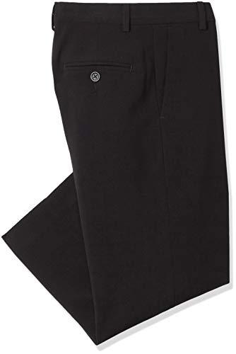 (Calvin Klein Big Boys' Flat Front Pant , Black, 18)