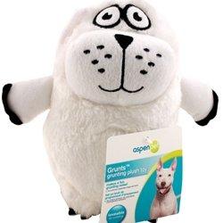 Grunts Plush Polar Bear Dog Toy, My Pet Supplies