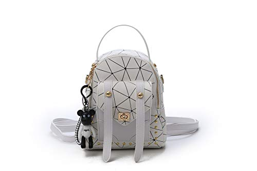 TF Mini Backpack Purse Handbag Shoulder Bag for Daily Work Hiking Travel School (WHITE)