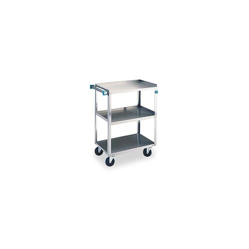 Lakeside 322 Stainless Steel Utility Cart; 300 Lb Capacity, 3 Shelf, 18