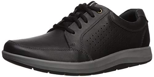 CLARKS Men's Shoda Walk Waterproof Sneaker, Black Leather, 95 M US