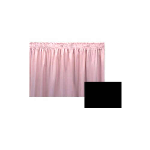 Snap Drape #100-I Black Wyndham Shirred Pleat 8 Ft. Table Skirt ()
