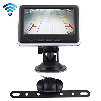 Uniqus 2.4GHz Wireless 4.3 inch TFT Car Rearview Monitor Day Night Camera System Kit(Black)
