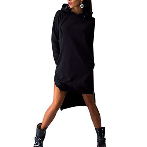 - Plus Size Women Long Sleeve Sweatshirt Pullovers Women Casual Loose Long Fleece Hoody Top,Black,L