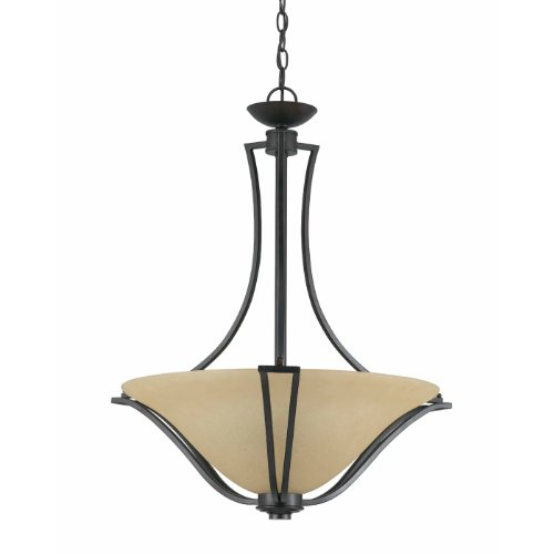 Triarch 32782-24 3 Light Greco Bowl Large Pendant Light, English