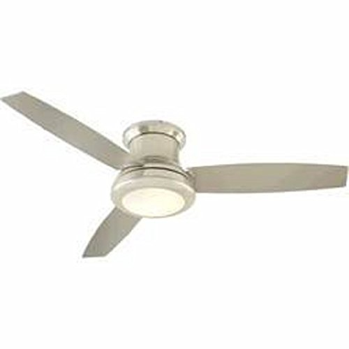 Harbor Breeze Sail Stream 52 In Brushed Nickel Flush Mount Indoor Ceiling Fan With Light Kit And