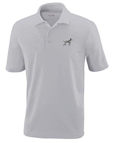 Dalmatian Embroidery (Dalmatian Embroidery Design Polyester Performance Polo Shirt Platinum Medium)