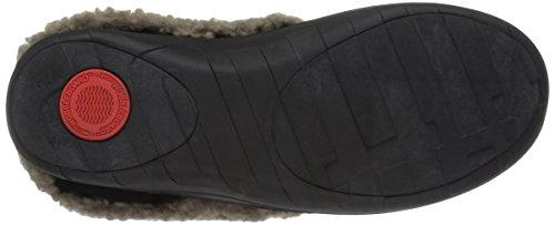 de Mujer Zapatillas para Negro Ante FitFlop 5fpxq
