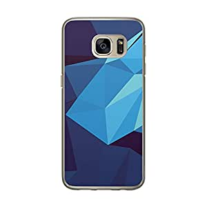 Loud Universe Samsung Galaxy S7 Geomaterical Files A Geo 34 Transparent Edge Case - Blue