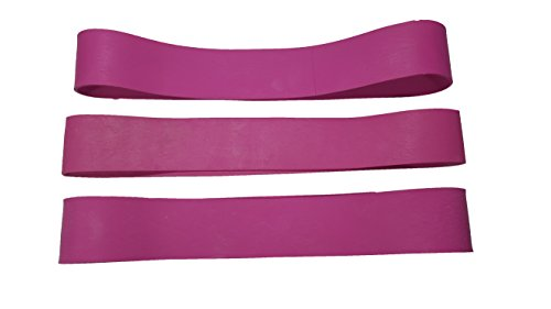 LINE2design PINK Firefighter Rubber Helmet Bands For Modern & Traditional Style Fire Helmets Loose 3Pk (Traditional Fire Helmet)