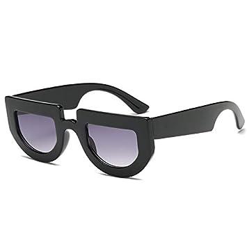 YUHANGH Gafas De Sol Blancas Semi Redondas De Mujer, con ...