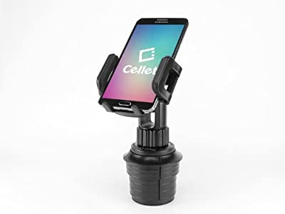 Cellet Universal Adjustable Automobile Extended Cup Holder Mount w/ for iPhones, iPods, Smartphones, MP3 Players, GPS Systems