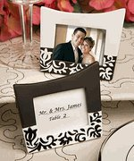 Damask design picture frames-place card holders, 1