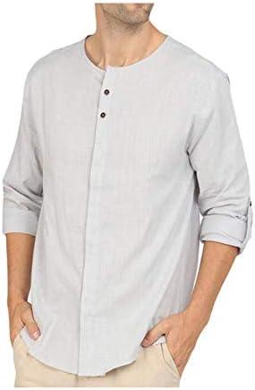 Camisa Holgada de Lino para Hombre, Camisa de Manga Larga, Camisa de Yoga para Playa, Gris XXXL: Amazon.es: Ropa y accesorios