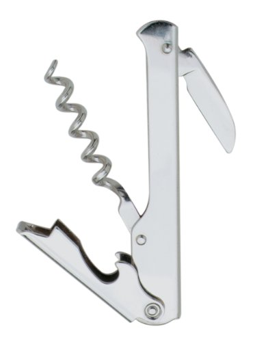 Norpro 472 Waiter's Corkscrew Chrome with Knife, Silver