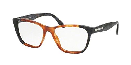 Prada PR04TV Eyeglass Frames U6L1O1-52 - Light Havana/Spotted Grey PR04TV-U6L1O1-52